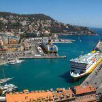 Blick über den Hafen von Nizza