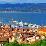 Blick auf die Bucht von Saint-Tropez
