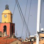 Blick auf den Kirchturm Saint-Tropez