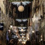 Weihnachtsbeleuchtung Straßen von Straßburg