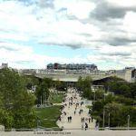 Blick auf das Forum des Halles und Centre Pompidou von der Bourse de Commerce