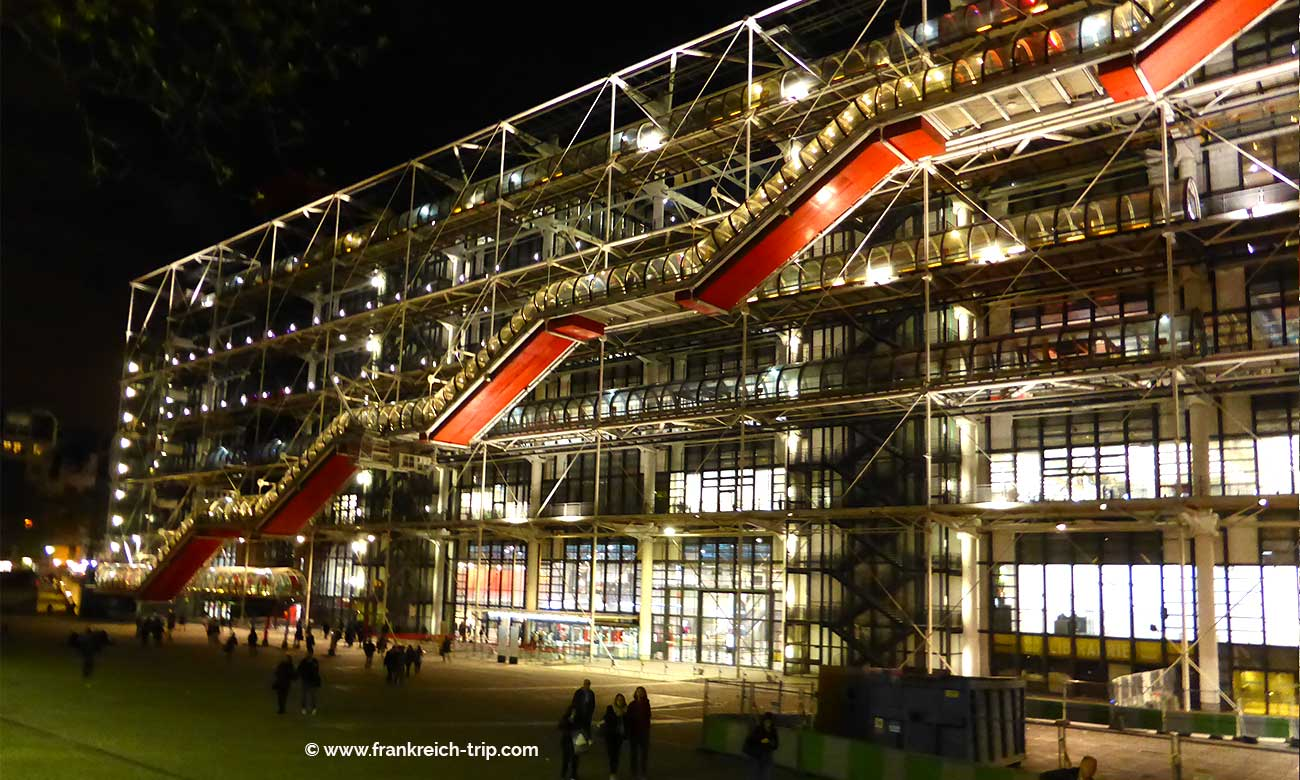 Centre Pompidou bei Nacht
