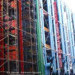 Hinteransicht Centre Pompidou