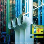 Centre Pompidou - Detail der Fassade