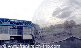 Museum Cite des sciences Paris und 360° Kino la Geode