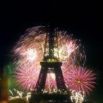 Feuerwerk am 14 Juli am Eiffelturm