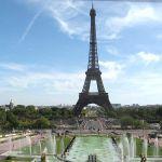 Eiffelturm vom Trocadero mit Invalidendom
