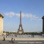 Blick vom Trocadero auf den Eiffelturm