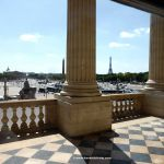 Blick auf den Place de la Concorde vom Hôtel de la Marine