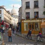 Gasse auf dem Montmartre