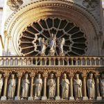 Detail der Fassade Notre Dame