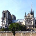 Sicht von der Seine auf Notre Dame