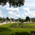 Blick auf den Louvre Tuilerien Paris