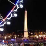 Place de la Concorde nachts an Weihnachten Riesenrad