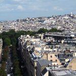 Blick vom Dach des Triumphbogens auf Sacré Coeur