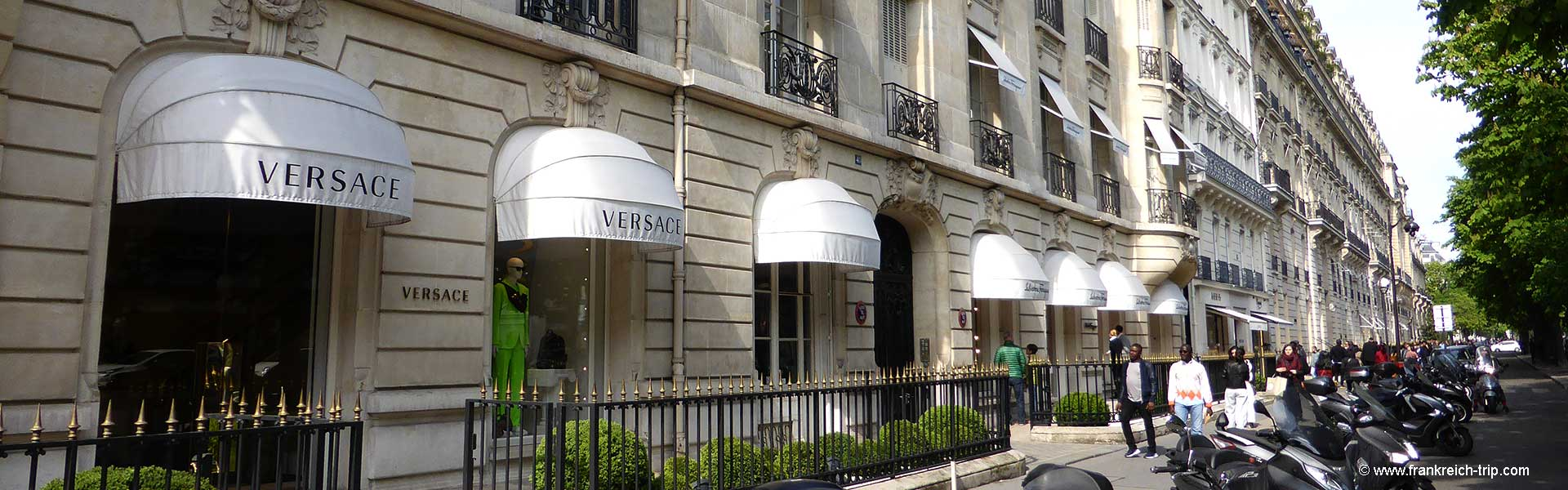 Avenue Montaigne Luxus Shopping Paris