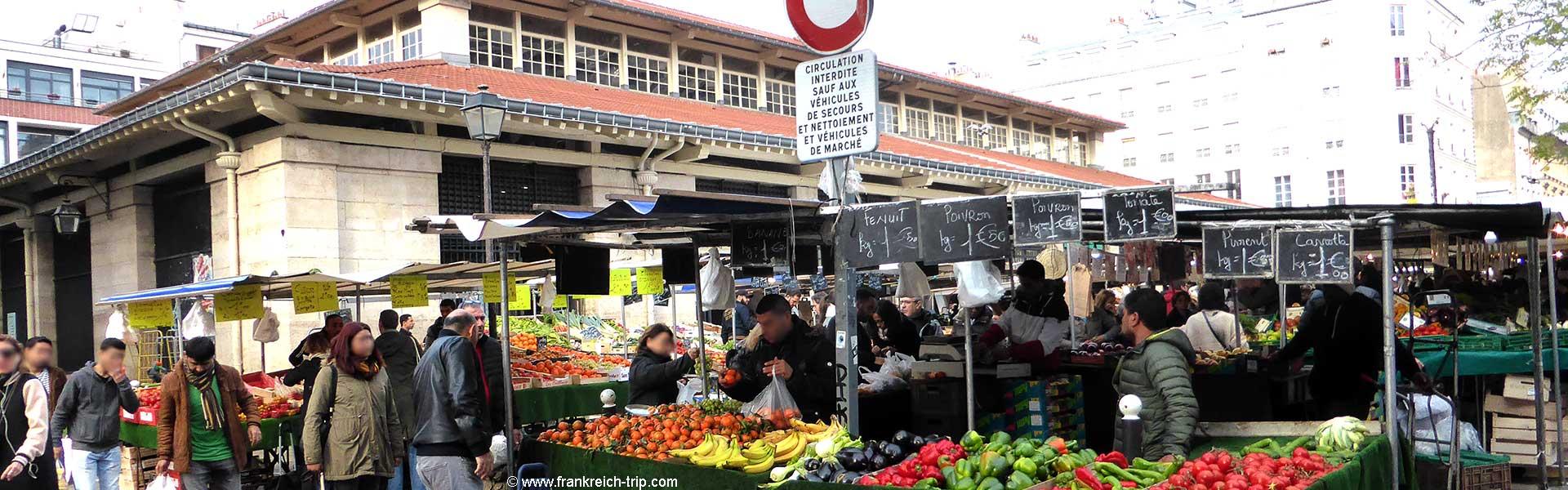 Lebensmittelmarkt Paris Marché d'Aligre