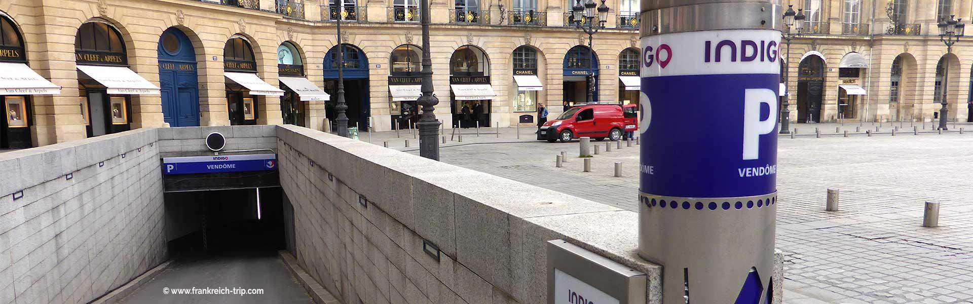 Auto parken in Paris Parkhaus