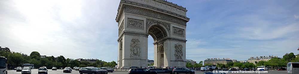Paris Sehenswürdigkeiten Triumphbogen (Arc de Triomphe)