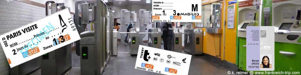 Paris Métro - Tickets & Preise