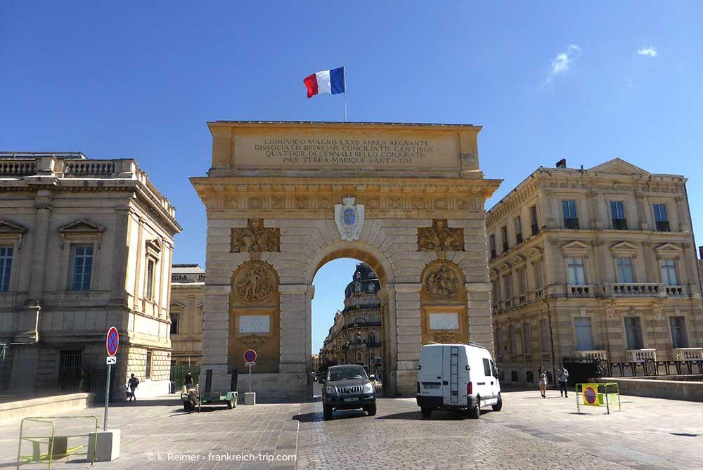 Urlaub in montpellier und umgebung s dfrankreich languedoc roussillon - Arc de triomphe montpellier ...