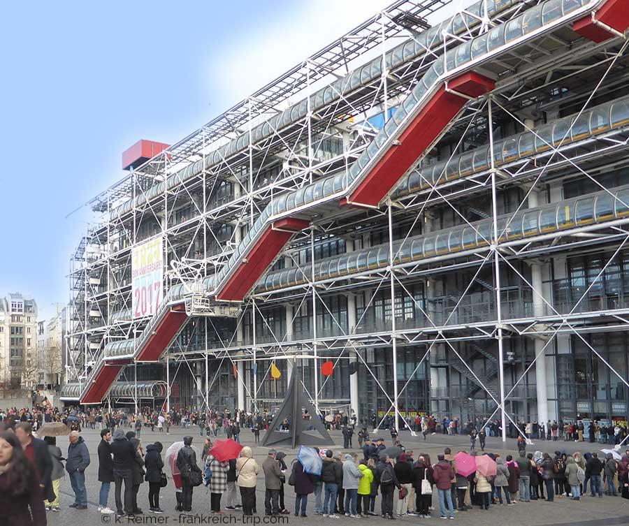 Warteschlange Centre Pompidou